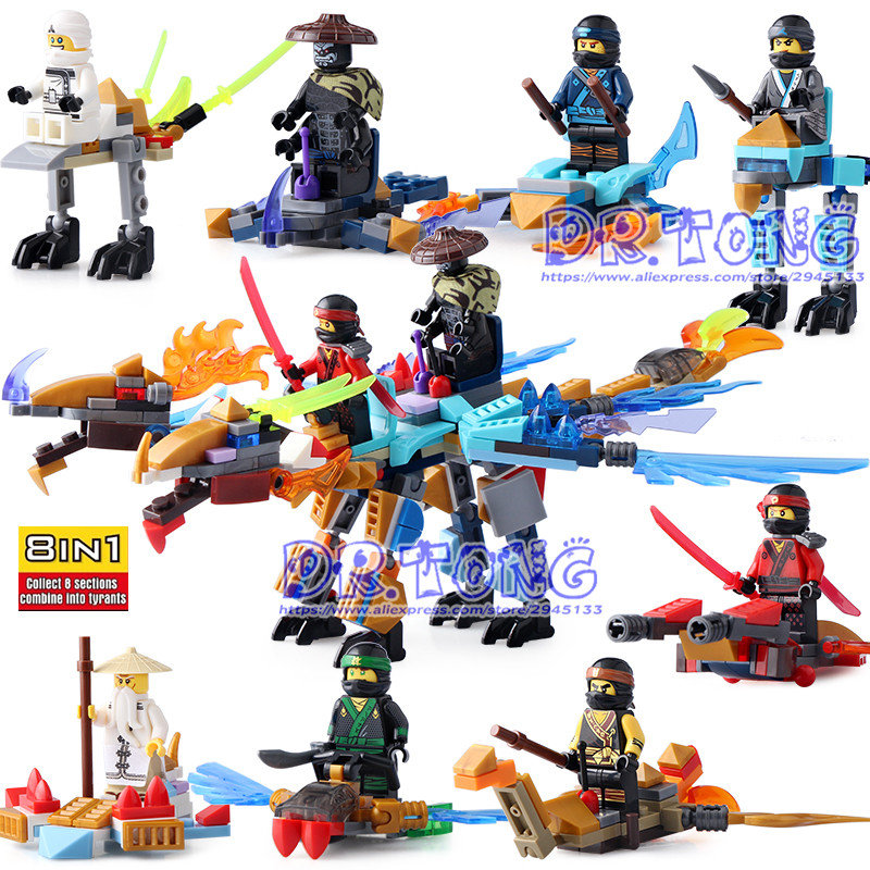 DR TONG 80PCS/LOT SY671 Ninja Blocks Figures Building Blocks Toys Ninja Zane KOZU Jay Kai Cole Diy Toys Children Gifts 2017 hot golden ninja go double head dragon knights building block mini kai zane cole jay figures weapons bricks toys for boys