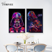 Star Wars Movie Canvas Poster Wall Art Prints Darth Vader Abstract Pictures Oil Painting For Living Room Decorations