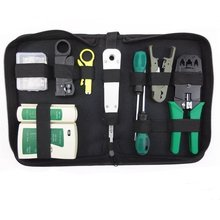 11pcs/set RJ45 RJ11 RJ12 CAT5 CAT5e Portable LAN Network Repair Tool Kit Utp Cable Tester AND Plier Crimp Crimper Plug Clamp цена 2017