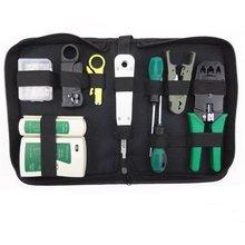 11pcs/set RJ45 RJ11 RJ12 CAT5 CAT5e Portable LAN Network Repair Tool Kit Utp Cable Tester AND Plier Crimp Crimper Plug Clamp недорого