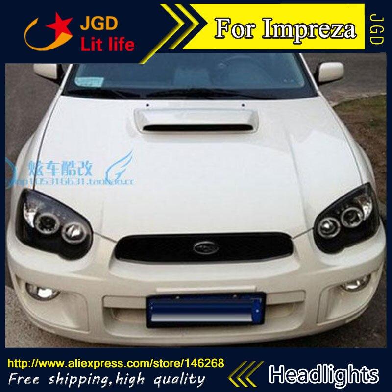 Phare de LED de Style de pièce automatique pour Subaru Impreza WRX 2004 2005 2006 phares de LED drl hid faisceau de croisement de lentille bi-xénon