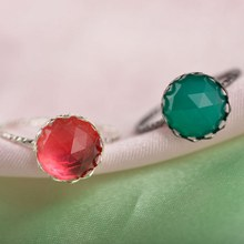 Fashion 2018 Vintage Big Ring Antique Green Red Color Mosaic Colorful Resin Rings For Women Party Turkish Jewelry(China)