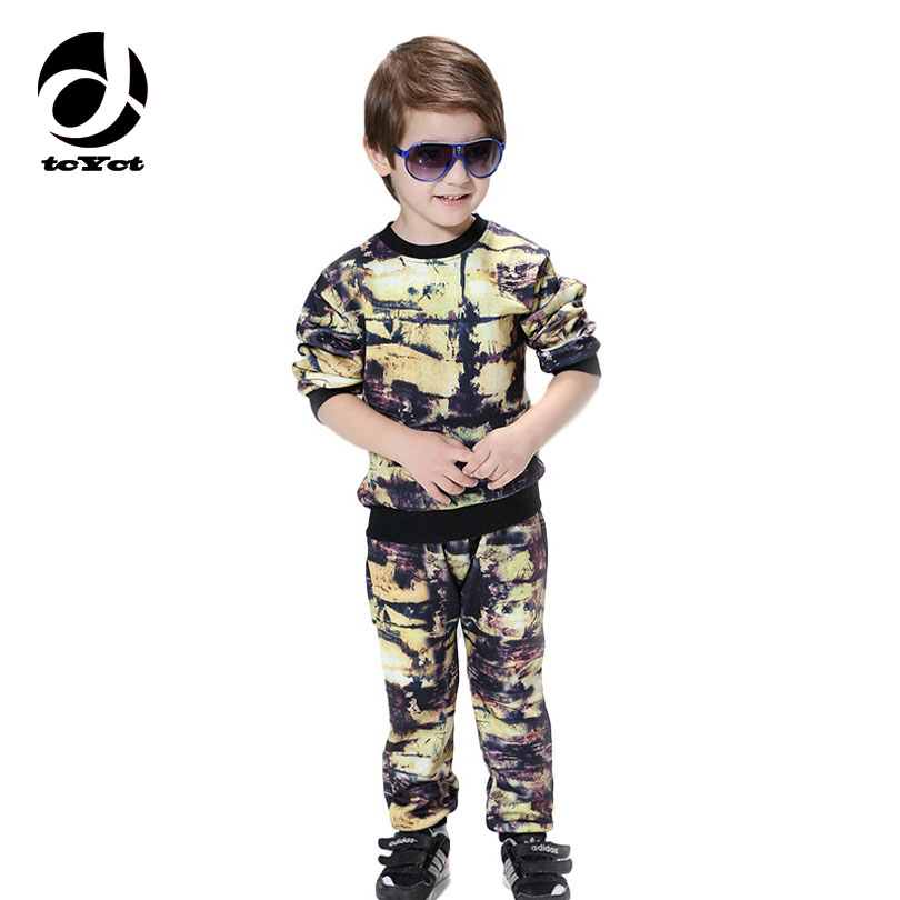 New Children Clothing Winter Toddler Boys Clothing Set Sport Suits For Children Tracksuit Long Sleeve Printed Boys Coat+Pants children s long sleeve sports suits boys clothing set camouflage child outdoor sport tracksuit clothes sets 4 6 8 10 12 14 year6