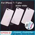 НОВЫЙ Для iPhone 7 Plus 7 S Плюс 5.5 дюймов Матовый белый Назад Крышка корпуса Для iPhone 7 4.7 дюймовый Металлический Назад Шасси Замена инструменты