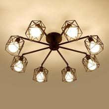 цена на Vintage  Shape Iron Indoor Pendant Lamp Coffee House/Dining Hall/Club/Foyer/Shop/Bar,Good Looking Clothing Shop Lamps
