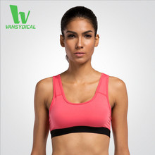 VANSYDICAL Gym Women Yoga Sports Bra Tops Running Fitness Athletic Tank Tops Backless Wireless Underwear Without Steel