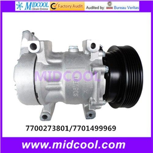 Compresor de CA de alta calidad 6V12 para RENAULT 7700273801 7701499969