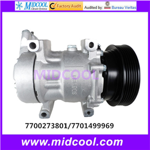 HIGH QUALITY AUTO AC COMPRESSOR  6V12  FOR  RENAULT  7700273801  7701499969