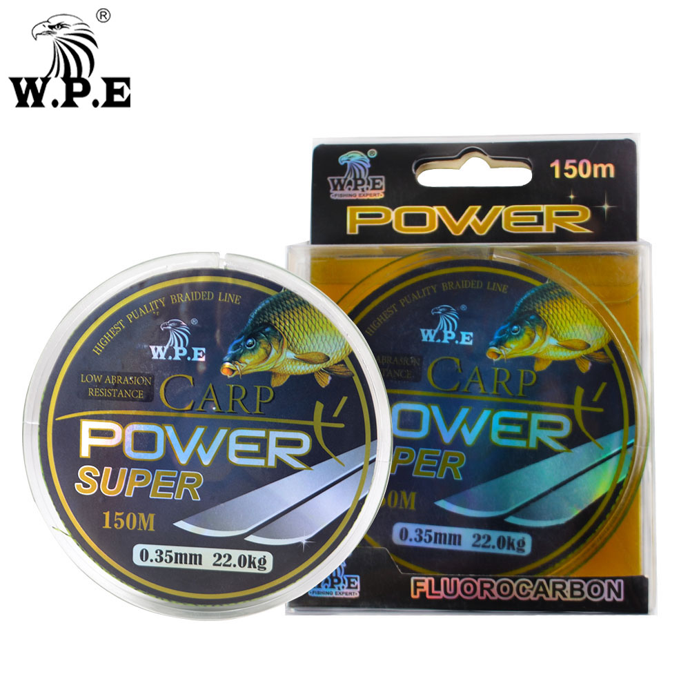 W P E Brand Super Power Carp fishing Line 0 2mm 0 60mm Fluorocarbon Coating Fishing Line 10 41KG Double color Fast Sinking Line in Fishing Lines from Sports Entertainment