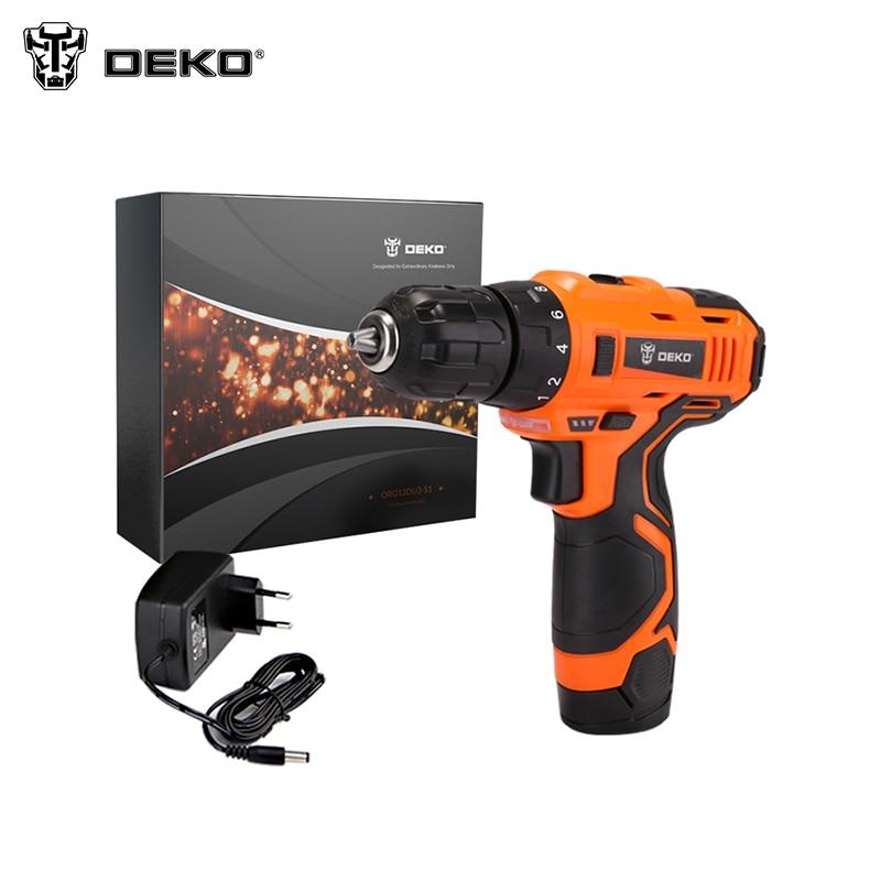 Cordless drill DEKO ORG12DU3-S1 80ml portable cordless water flosser