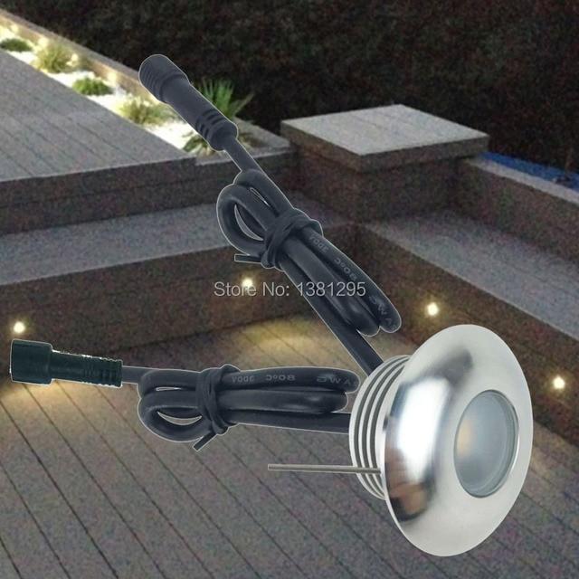 Mini LED Platelage Lumière Kit Spot Encastrable Sol Exterieur LED Encastré  Mur Escalier Éclairage 12 V