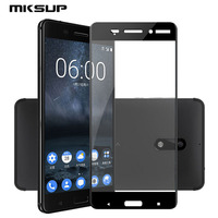 MKSUP 3D Full Cover Premium Tempered Glass Screen Protector For Nokia 6 5 5 9H Explosion