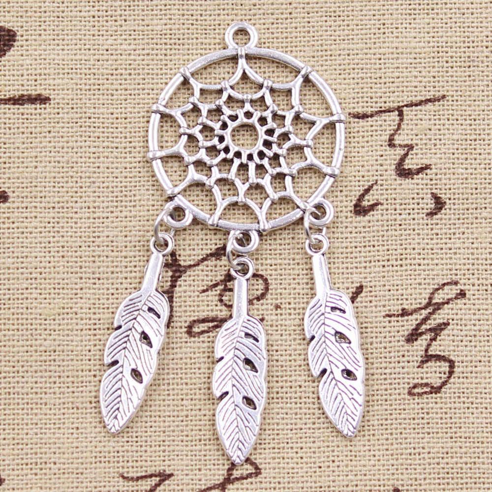Bộ 5 Vòng Tay Bản địa Dream Catcher Cổng kết nối Cổ Làm mặt dây chuyền phù hợp, Vintage Bạc Tây Tạng Đồng, TỰ LÀM vòng tay vòng cổ