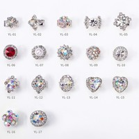 100pc 3D Spinning Alloy Nail Decoration/Silver Plated Spin Rhinestone Glitter Charm Nail DIY Deco/ Spinning Rotating Nail Deco