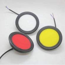 1Pair COB Truck Tail Lights Red/Yellow/White Indicator Warning Lamp for 12V 24V Bus Trailer Lorry Van