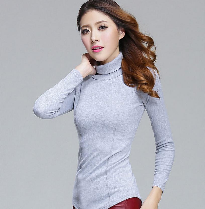 Herbst Winter 6 Farbe Frauen schlank Pullover plus Größe lange - Damenbekleidung - Foto 1