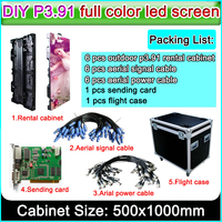 Супер тонкий P3.91 500x1000 мм прокатный дисплей для наружной рекламы Кабинет Светодиодный процессор экран, P3 P4 светодиодный видеостена литья Алю