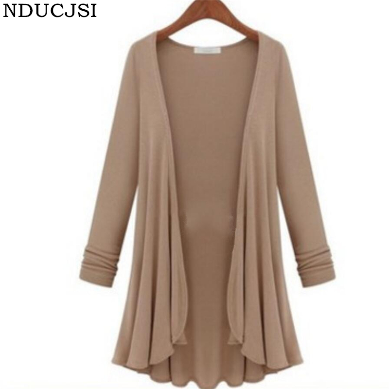 NDUCJSI Cardigan New Loose Women Open Stitch Cotton Outerwear Cardigan Long Sleeve High Quality Big Size 5XL Plus Size Sweaters