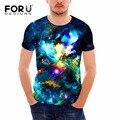 Forudesigns hip hop camiseta primavera/verão universo galaxy moda casual curto-de mangas compridas camisetas 3d impresso t shirt homens encabeça tee