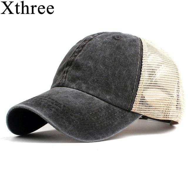 aa0109a932ef0 Xthree fashion women s mesh baseball cap for men summer cap snapback Hat  for women bone gorra casquette fashion hat
