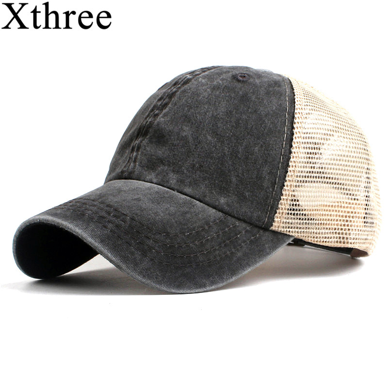 Xthree fashion women's mesh   baseball     cap   for men summer   cap   snapback Hat for women bone gorra casquette fashion hat
