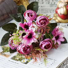 INS Nordic Style Artificial Flower Bouquets Party Wedding Ornaments Decoration Home Desk Photography