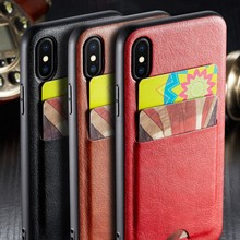 For iPhone XS Max XR Case Luxury Slim PU Leather Card Holder Wallet Case For iphone