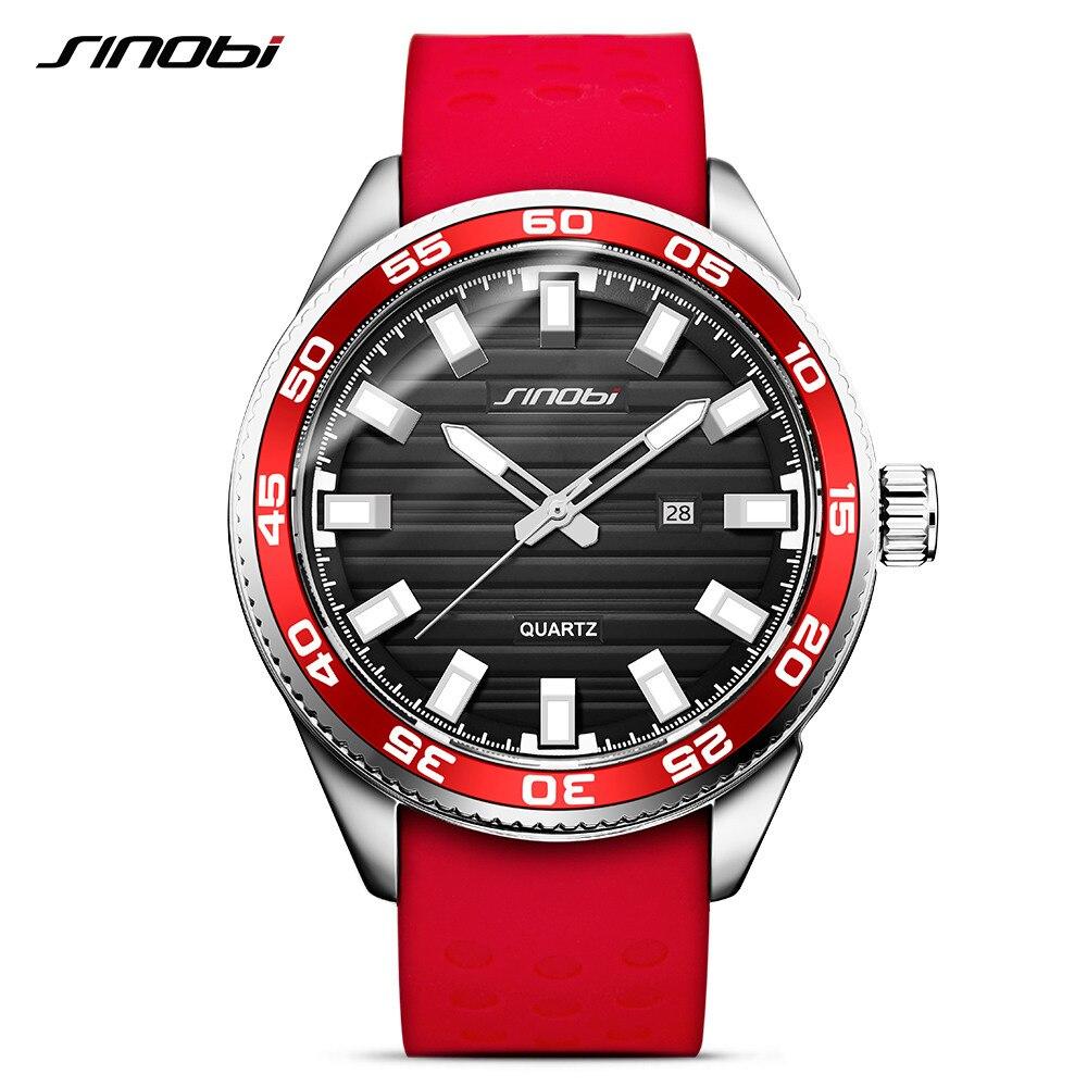 13b3e8be5ef SINOBI 316 Dos Homens de Aço Inoxidável Militar Homens Esportes Relógios de  Luxo Da Marca de