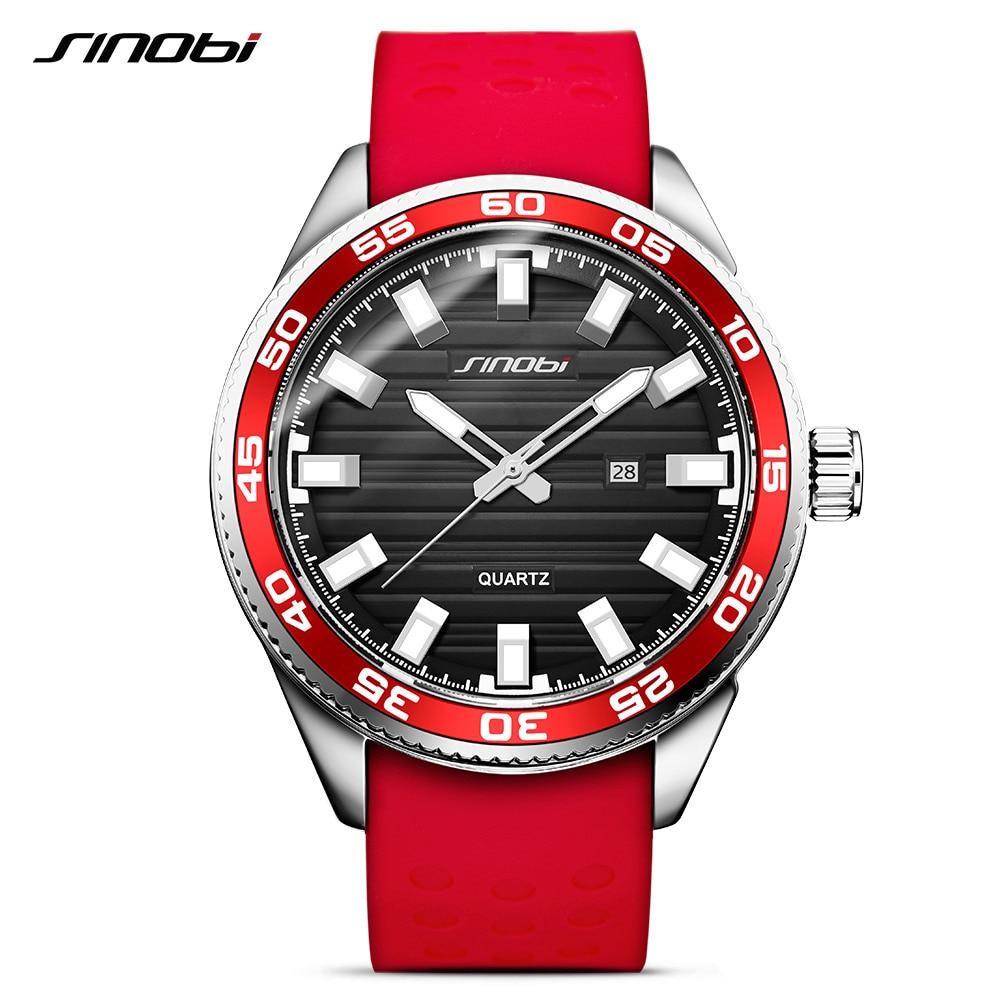 SINOBI 316 Stainless Steel Men's Sports Watches Luxury Brand