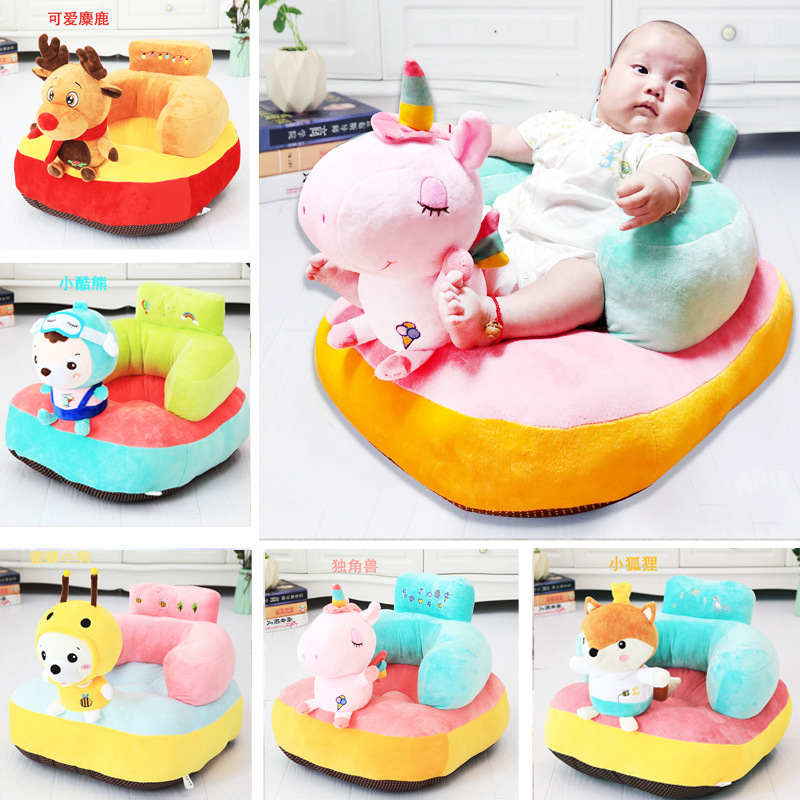 Baby Play Mat Plush Unicorn Chair For Baby Learn Sit Baby Chair Mat Moose Play Game Mat Sofa Kids Gift