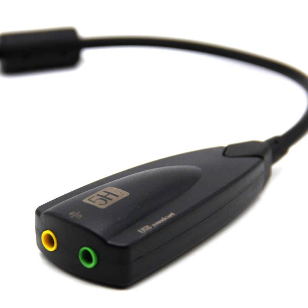 外部 Usb サウンドカード 7.1 アダプタ 5HV2 3D オーディオヘッドセット用のマイク 3.5 ミリメートルノート Pc