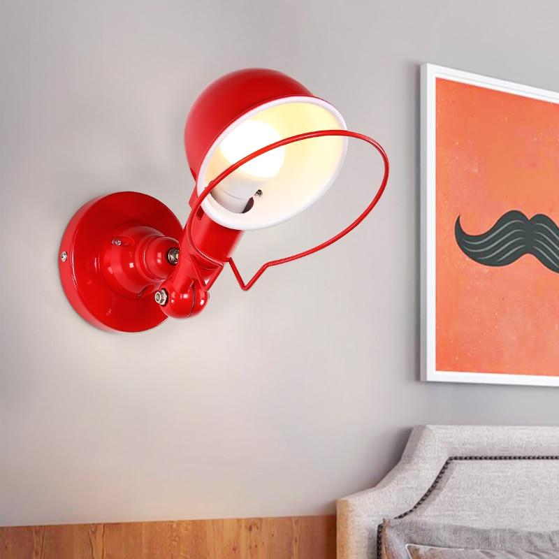 Nordic Classico regolabile industriale moderna Lungo altalena braccio nero lampada da parete sconce vintage E27 luci per Bagno camera da letto foyer - 3