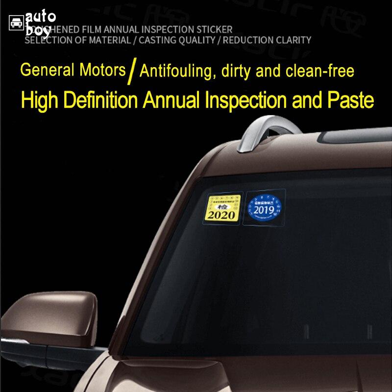 Image 5 - Авто Запчасти окна статическая наклейка год проверить отметка наклейка для Tesla модель 3 для MINI Cooper R56 украшение автомобиля Стикеры 3 шт/вол-in Наклейки для салона авто from Автомобили и мотоциклы
