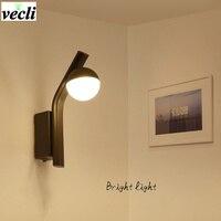 Modern Simplicity LED Wall Lamps Bedroom Bedside Lamp Reading aisle Wall Sconce Corridor Light bra AC 90 260V