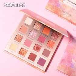 FOCALLURE Glitter Eyeshadow Pallete 16 Colors Shadows Palette Cosmetics Shimmer Diamond Eye Make Up Eye Shadow
