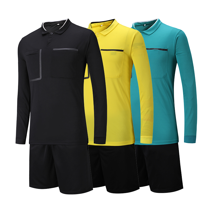 2018 new style Soccer Judge uniform professional soccer referee clothing  Football referee Jersey black yellow green-in Soccer Sets from Sports ... a74c0268f