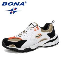 BONA 2019 nuevos zapatos deportivos de diseñador Zapatillas para hombre zapatillas para correr zapatos de entrenamiento al aire libre zapatos de tenis