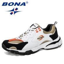 BONA New Designer Sport Shoes Men Sneakers Mens Running Shoes Outdoor Training Shoes Men Tennis  Shoes Male Jogging Shoes