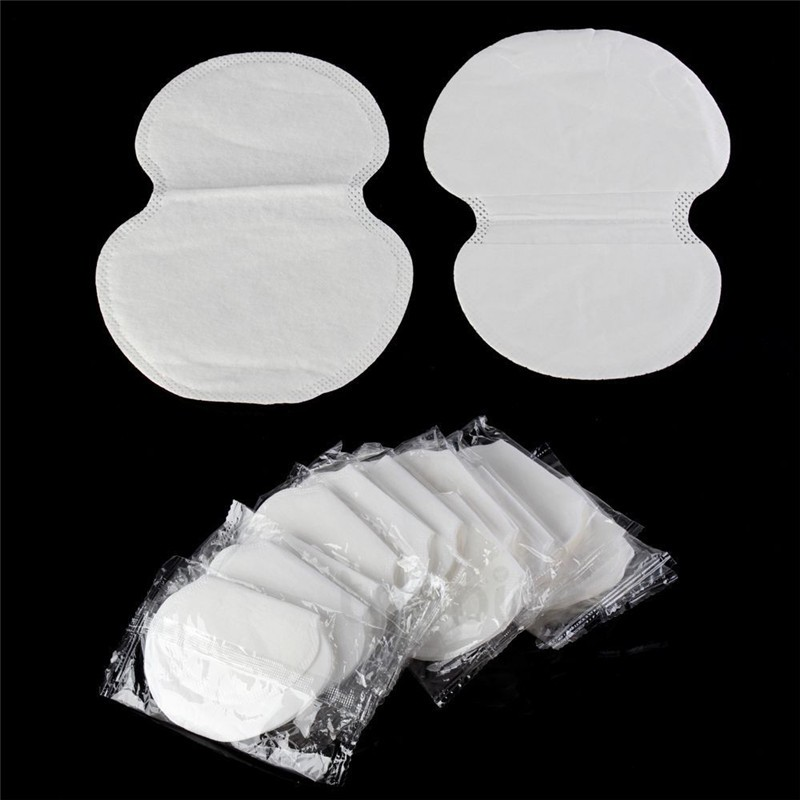 100Pcs (50pairs) Disposable Underarm Pad Armpit Sweat Pads Guard Sheet Liner Dress Clothing Shield Summer Men Women Deodorants