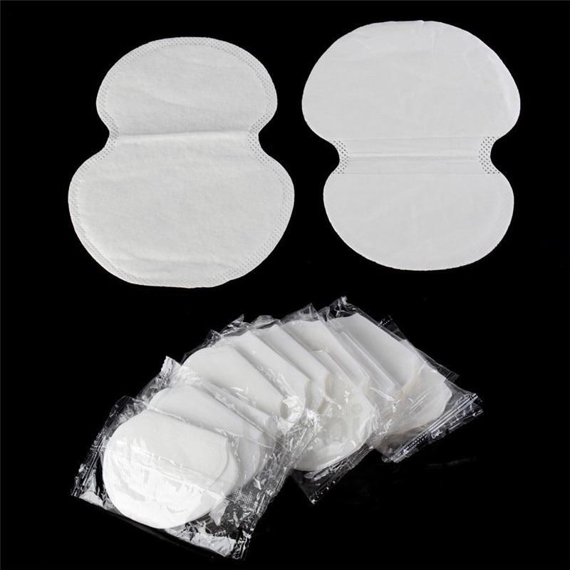 100Pcs (50pairs) Disposable Underarm Pad Armpit Sweat Pads Guard Sheet Liner Dress Clothing Shield Summer Men Women Deodorants