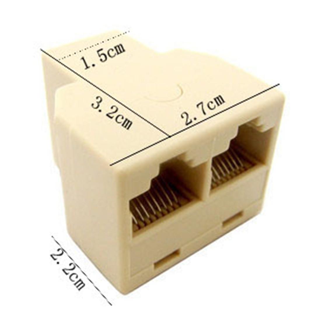 Высокая RJ45 кабель Ethernet LAN Порты и разъёмы от 1 до 2 Splitter гнезда RJ45 Splitter Разъем CAT5 LAN Ethernet Splitter адаптер 8P8C сети