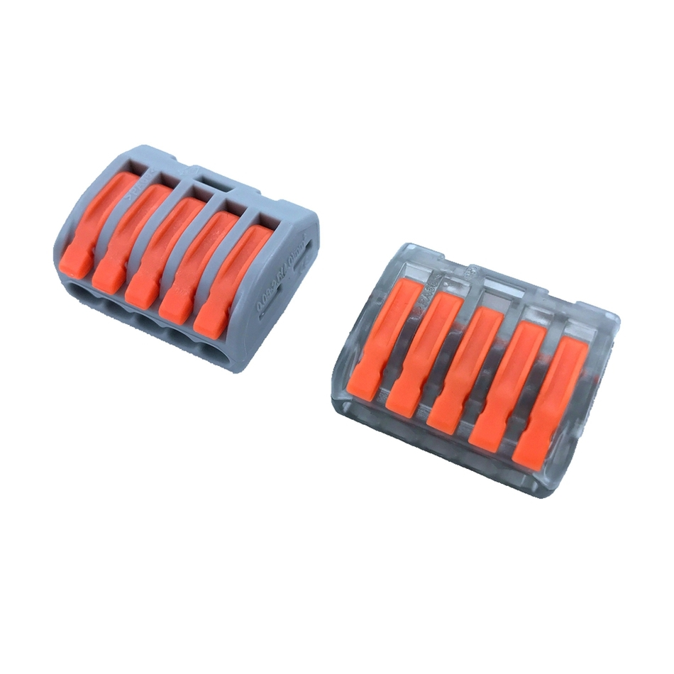 Wago Type Wire Connector 222 Series 10pcs Cage Spring Universal Fast Wiring A Terminal Block Conductors China Free Shipping In Connectors From Lights