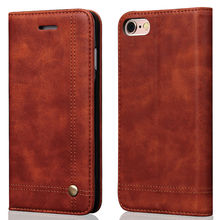 Vintage Magnetic Flip Book Stand with Card Holder Leather Wallet Case for iPhone 5 5s Se 6 6s 7 Plus Phone Cover Coque Capinha
