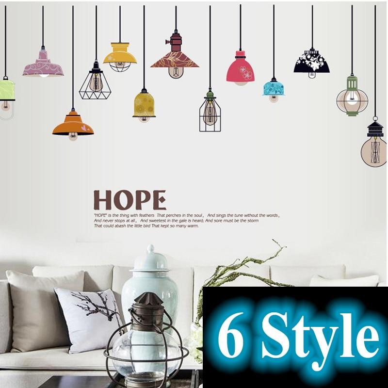 Europea retro extra ble bombilla l mpara wall sticker for App decoracion hogar