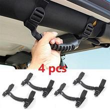 "Roll Bar Grab Handles for Jeep Wrangler Roll Bar Mount Side Grab Handles Kit 2"" /3"" inch Interior Door Handles"