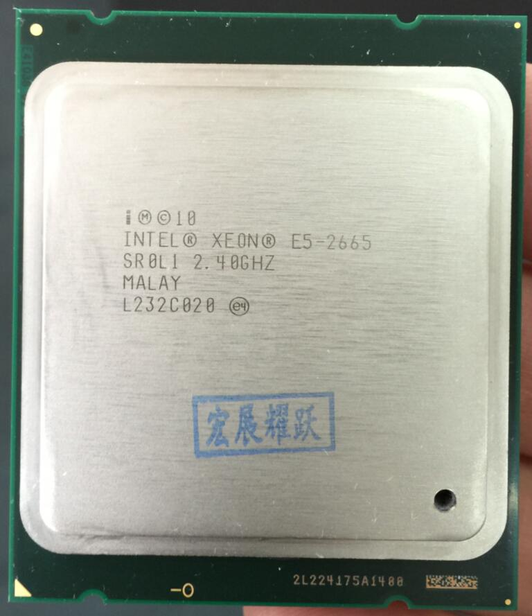 Intel Xeon Processor E5-2665  E5 2665 Server CPU   (20M Cache, 2.40G MHz SROL1 C2 LGA2011  CPU wavelets processor