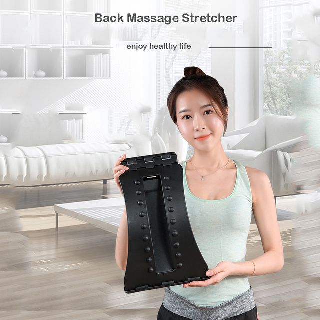 Back Massager Stretcher Relieve Spine Pain Chiropractic Health Care Relaxation Lumbar Relief Acupuncture Massage Dropshipping 1
