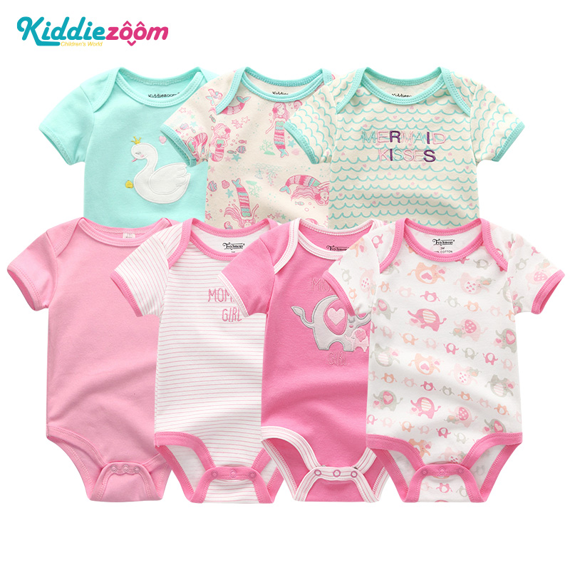 766e98bc8556d Newborn Baby Girl Rompers Clothes 7Pcs sets Short Sleeve 3 6 9 12Months  Boys Roupa de bebe Baby Jumpsuit Infant Product Clothing - aliexpress.com -  imall. ...