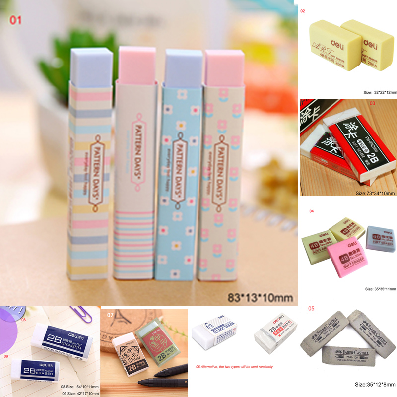 17 Types Optional Rubber 4B Eraser 2B Eraser Sketch Drawing Eraser Pencil Eraser-Art Drawing Artist Student Stationery