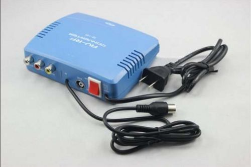 AC 220 V EU prise AV à RF modulateur TV commutateur Audio vidéo RCA Ant entrée à pour Type convertisseur de sortie coaxial